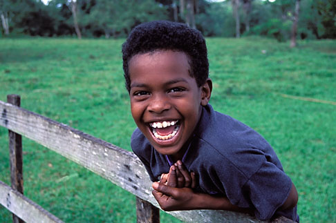 image 6-91-9 Belize, Young boy laughing