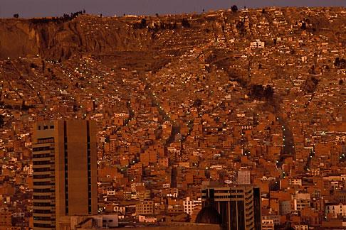 image 3-115-30 Bolivia, La Paz, La Paz valley at dawn