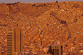 downtown skyline at night stock photography | Bolivia, La Paz, La Paz valley at dawn, image id 3-115-30