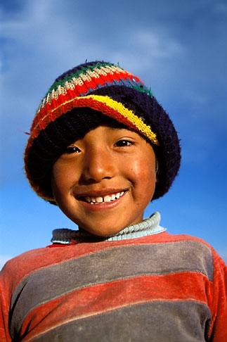 image 3-120-5 Bolivia, La Paz, Young boy