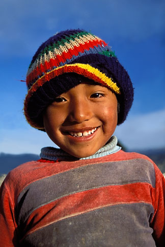 image 3-120-7 Bolivia, La Paz, Young boy