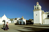 piazza stock photography | Bolivia, Lake Titicaca, Courtyard of Cathedral, Copacabana, image id 3-92-25