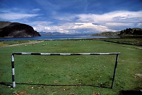 image 3-95-18 Bolivia, Lake Titicaca, Lakeside scene, Titicachi, near Copacabana