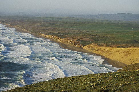 image 0-280-23 California, Point Reyes, Point Reyes Beach from bluff
