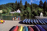 canoes stock photography | California, Russian River, Beach at Monte Rio, image id 0-340-26