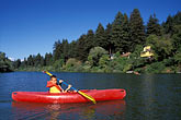 colour stock photography | California, Russian River, Kayaking at Monte Rio, image id 0-340-31