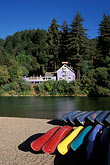 canoes stock photography | California, Russian River, Beach at Monte Rio, image id 0-340-67