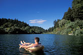 relaxing on a boat stock photography | California, Russian River, On the river at Monte Rio, image id 0-340-97