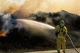 water hazard stock photography | California, Marin County, Firemen and Brush Fire, image id 0-470-46