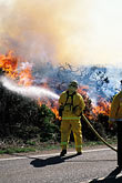 fire hose stock photography | California, Marin County, Brush Fire, Marin Headlands, GGNRA, image id 0-470-48