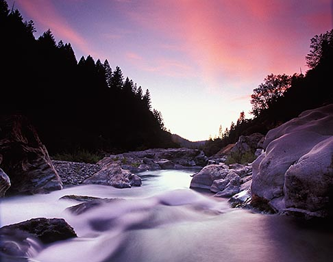image 1-641-26 California, Downieville, Dusk, Yuba River