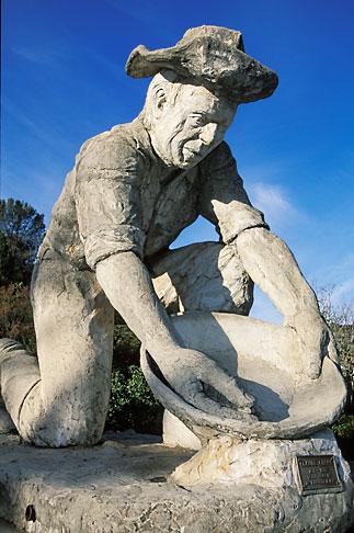 image 1-668-9 California, Auburn, Statue of Gold Miner