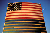 july 4 stock photography | Flags, American Flag on office building, image id 1-775-1