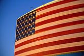 blue sky stock photography | Flags, American Flag on office building, image id 1-775-2