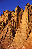 sunlight stock photography | California, Mt Whitney, Keeler Needle and Day Needle at dawn, image id 2-114-34