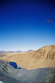 nevada stock photography | California, Sierra Nevada, Helicopter above Dana Lake, image id 2-148-14