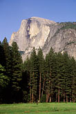 dome stock photography | California, Yosemite National Park, Half Dome from the Valley floor, image id 2-42-30