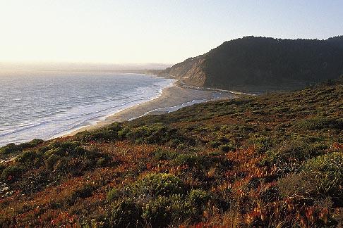image 2-630-35 California, Santa Cruz County, Pacific Coast Highway near Santa Cruz