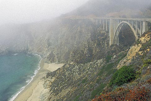 image 2-630-64 California, Big Sur, Bixby Bridge