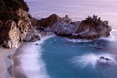 purple light stock photography | California, Big Sur, Julia Pfeiffer Burns State Park, waterfall, image id 2-645-1