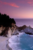 purple light stock photography | California, Big Sur, Julia Pfeiffer Burns State Park, waterfall, image id 2-645-3