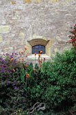 western wall stock photography | California, Carmel, Garden, Carmel Mission Church, image id 3-315-33