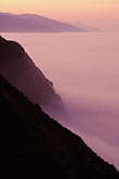 hillside and clouds stock photography | California, Big Sur, Dawn light and fog south of Ventana, image id 3-316-28
