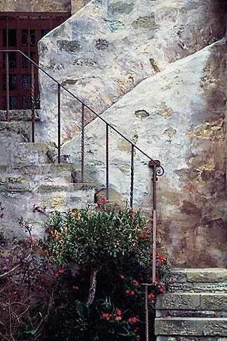image 3-316-9 California, Carmel, Staircase, Carmel Mission Church