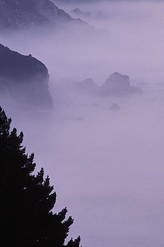 image 3-317-24 California, Big Sur, Early morning fog south of Ventana