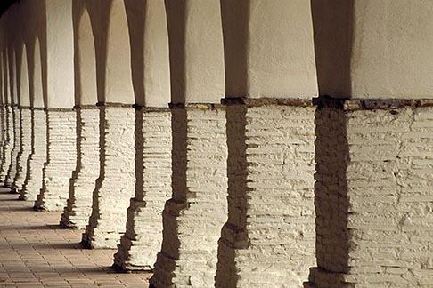image 3-324-24 California, Missions, Arcade, Mission San Juan Bautista