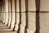 colonial building stock photography | California, Missions, Arcade, Mission San Juan Bautista, image id 3-324-24