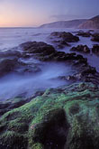 mossy stock photography | California, Point Reyes, McClures Beach at sunset, image id 3-63-17