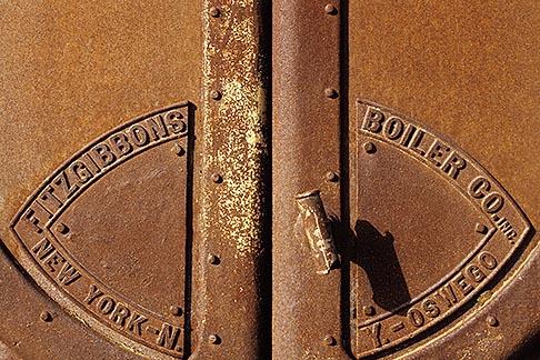 image 4-222-8 California, Benicia, Iron furnace door