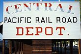old rail depot stock photography | California, Sacramento, Old rail depot, image id 4-308-6