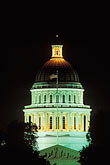 state capitol building stock photography | California, Sacramento, State Capitol Building at night, image id 4-313-26