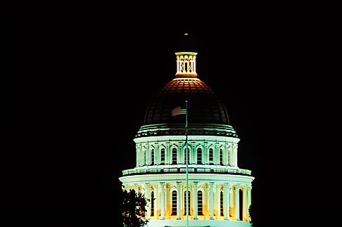 image 4-313-36 California, Sacramento, State Capitol Building at night
