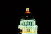 domed stock photography | California, Sacramento, State Capitol Building at night, image id 4-313-36