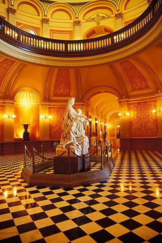 image 4-316-18 California, Sacramento, State Capitol foyer, statue of Chistopher Columbus