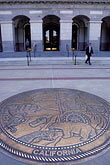 round stock photography | California, Sacramento, Entrance to State Capitol Building, with Great Seal, image id 4-519-13