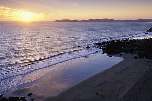 image 4-561-17 California, Bodega Bay, Sunset over Bodega Head