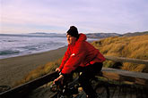 bicyclist stock photography | California, Bodega Bay, Boardwalk, Bodega Dunes, image id 4-562-41