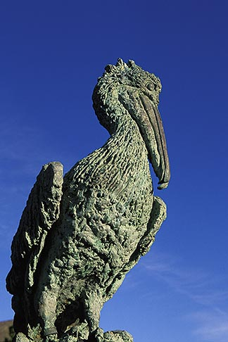 image 4-562-87 California, Bodega Bay, Bodega Bay Lodge and Spa, pelican sculpture