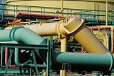 yellow stock photography | Oil Industry, Detail of pipes, oil refinery, image id 4-65-2