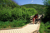 walkway stock photography | California, Marin County, Muir Beach, GGNRA, Boardwalk , image id 4-700-58