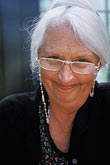 watchful stock photography | Portraits, Senior woman with glasses, silver hair, direct view, image id 4-700-77