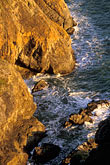 seashore stock photography | California, Marin County, Muir Beach coastline, rocky cliffs, image id 4-701-55