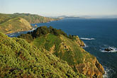 hillside stock photography | California, Marin County, Muir Beach coastline, image id 4-702-13