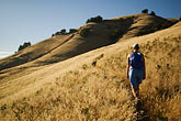 woman walking stock photography | California, Marin County, Mount Tamalpais State Park, hiker, Coastal Trail, image id 4-720-2608