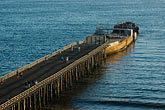 shore stock photography | California, Santa Cruz County, Aptos, Pier and cement ship, image id 4-775-156