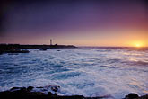 pacific ocean at sunset stock photography | California, Point Arena, Point Arena Lighthouse at sunset, image id 4-795-54